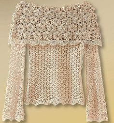 Love the Irish crochet!