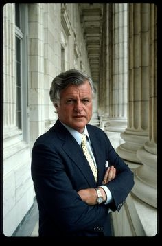 *Senator Ted Kennedy's official portrait in an interesting contrast to his older brothers' Senate portrait a few decades earlier.
