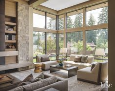 Modern Meets Traditional At Pacific Northwest Property - Luxe Interiors + Design