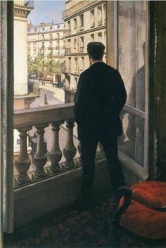Man at the Window - Gustave Caillebotte