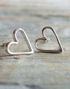 #stylish Open heart earrings...