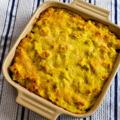Recipe for Better-than-Mom's Chicken, Broccoli, and Quinoa Casserole with Creamy Curry Sauce  [from Kalyn's Kitchen]