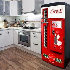 Fridge Vinyl Sticker *Coca Cola* and *Pepsi* / Self-Adhesive Vinyl Refrigerator Decal / Side-by-side Fridge Wrap / Refrigerator Wrap Coca Cola Decor, Coca Cola Drink, Coca Cola Bottles, Pepsi, Coke, Refrigerator Wraps, Retro Refrigerator, Coca Cola Kitchen, Fridge Stickers