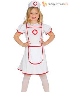 Filles enfants mode anciennes années 40 seconde guerre mondiale WW1 Guerre Infirmière Costume Robe fantaisie tenue