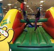 Our inflatable pillow bash game is available to book for your corporate function in the UK & London.