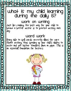daily five - info for parents