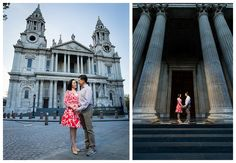 The photo on the right is stunning with the angle, colour and lighting up of the couple making them 'ping'.