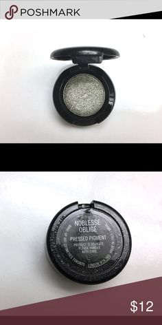 MAC Pressed Pigment Noblesse Oblige Limited Edition Eyeshadow. Like new! I don't think I used it, just swatched. MAC Cosmetics Makeup Eyeshadow