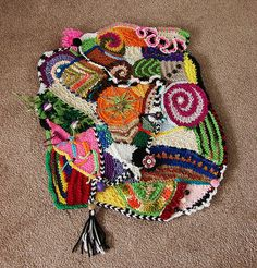 cochete freeform | freeform knit and crochet collage freeform collage using knitting ...