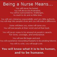 Being a Nurse Means.......