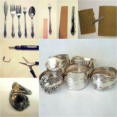 Pulsera con cubierto um - silverware changed to jewelry