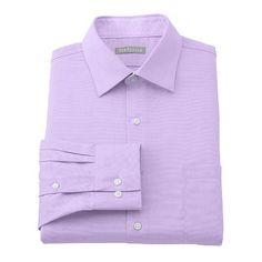 Van Heusen Fitted Traveler No-Iron Spread-Collar Dress Shirt - Men