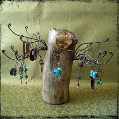 driftwood jewelry stand