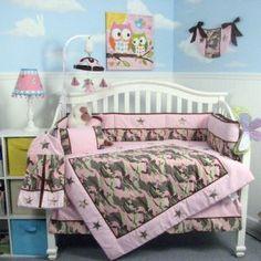 Soho Blue Camo Baby Bedding