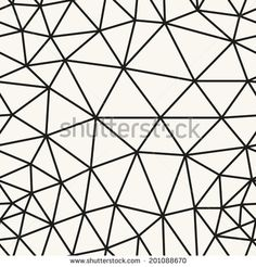 Seamless pattern. Irregular triangle grid. Stylish linear texture. Vector linear background