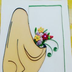 Quilling Paper : muslimah with a flowers.