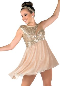 Tannish goldish sparkle costume with headpiece(be your river)