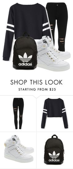 """Untitled #14"" by dianabarrera-1 on Polyvore featuring Moschino, adidas Originals, women's clothing, women's fashion, women, female, woman, misses and juniors"