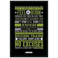 ''Gym'' Motivational Framed Wall Art ($129) ❤ liked on Polyvore featuring home, home decor, wall art, black, inspirational framed wall art, vertical wall art, black framed wall art, black wall art and black home decor