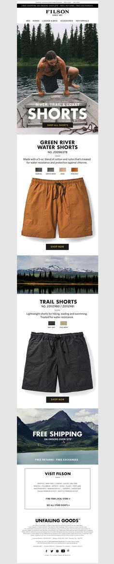 filson3 Email Design Inspiration, Email Newsletters, Collection