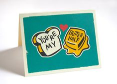 10 Pack You're My Butter Half Greeting Cards by CreativeSuitcase, $20.00