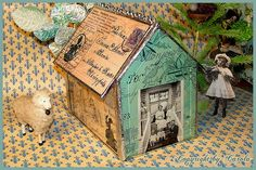 Soldered and collaged cottage