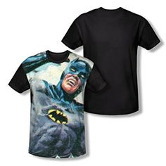 Batman Classic TV Foliage All Over Print Black Back T-Shirt