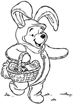 Easter printables - Pooh Rabbit from http://eastercolouring.blogspot.com/search/label/DISNEY%20EASTER%20COLOURING