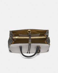 62a517286fbe Coach Cooper Carryall in Colorblock With Genuine Snakeskin Detail Alternate  View 2 You Bag