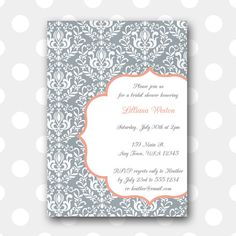 Printable Bridal Shower Invitation Vintage by inglishdigidesign