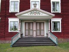 Genuine heritage building style, the Hälsingegård houses in the province of Hälsingland, Sweden. Candidate for the UNESCO list.