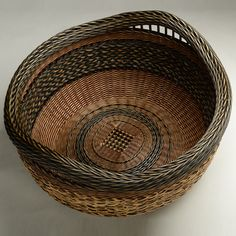 Twined Basket with Inset Handles by Peeta Tinay