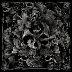 Skulls:  #Skull illustration by Julien Lemoine, a French designer based in Paris.
