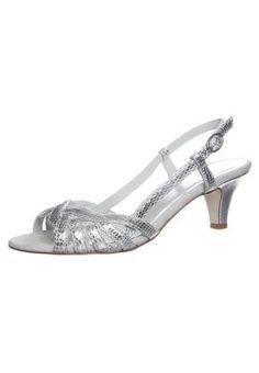 AORSADE - Sandaalit nilkkaremmillä - hopea Hopea, Service Client, Parfait, Kitten Heels, Wedding Ideas, Fashion, Pants, Suits, Golden Shoes