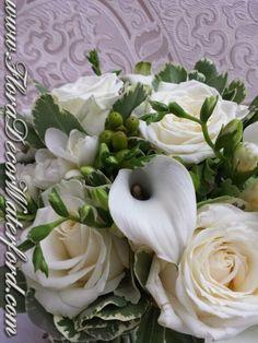White Wedding Flowers Crooke Church Waterford. Rose, Calla, Freesia, Bouvadia Wedding Bouquet White Wedding Flowers, Church Wedding, Wedding Bouquets, Rose, Pink, Wedding Brooch Bouquets, Bridal Bouquets, Wedding Bouquet, Roses