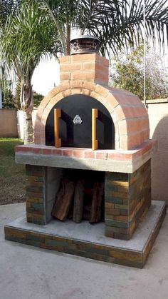 The Sybesma Family Wood Fired Outdoor Pizza Oven in California Best DIY Backyard Brick Barbecue – HomeGardenMagz Pizza Oven Outdoor, Outdoor Cooking, Brick Oven Outdoor, Outdoor Bars, Pizza Oven Kits, Pizza Ovens, Pizza Pizza, Oven Diy, Bread Oven