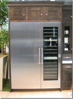 Outdoor Stainless Fridge... For when a fridge inside just won't do..