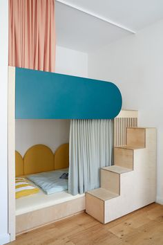 Girls Bedroom, Bedroom Decor, Ideas Habitaciones, Room Interior, Interior Design, Cool Kids Rooms, Built In Furniture, Kids Room Design, Kids House