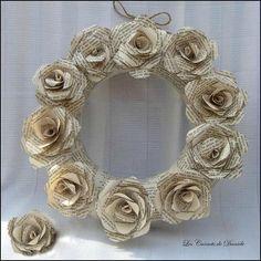 Couronne fleurs en papier