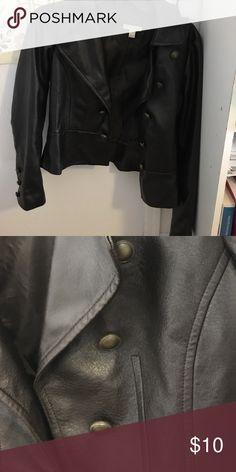 Faux leather jacket Button up faux leather jacket. Fashion Bug Other