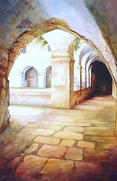 Website of the painter, Beni Gassenbauer - Watercolors. Watercolor Projects, Watercolor Landscape Paintings, Gouache Painting, Watercolour Painting, Watercolors, Watercolor Trees, Watercolor Portraits, Abstract Paintings, Watercolor Architecture