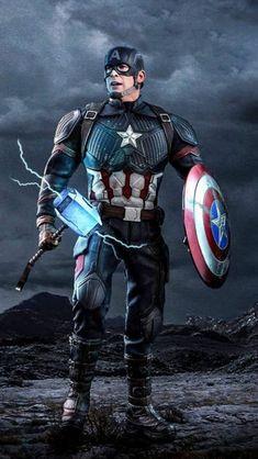 Captain America Worthy Mjolnir iPhone Wallpape r Marvel Avengers, Marvel Comics Superheroes, Iron Man Avengers, Marvel Films, Avengers Movies, Marvel Heroes, Marvel Characters, Marvel Art, Marvel Captain America