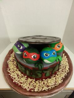 Ninja Turtle and Pizza Cake by Sweet Confections Cakes