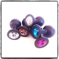 Lady Kink - Small Black Activator Plug with Jewel R This Small Black Activator Plug is crafted from medical grade stainless steel with a matt finish and a cut glass jewel added at the base for extra bling. Cut Glass, Plugs, Bling, Medical, Stainless Steel, Base, Jewels, Crafts, Jewel