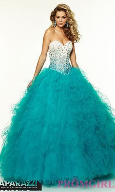Strapless Sweetheart Ball Gown by Mori Lee at PromGirl.com
