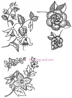 Free Embroidery Patterns: Medium Floral Motifs c1935