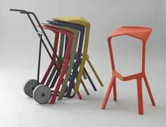 Konstantin Grcic - Miura Stackable Stools - manufactured by Plank 2003