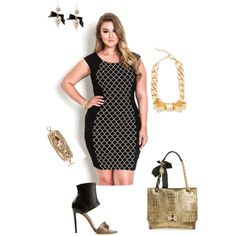Gimme some glam!- plus size, created by gchamama on Polyvore