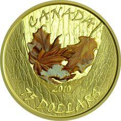 75 Dollar Gold Maple Leaf - Winter PP| goldankauf-haeger.de Maple Leaf Gold, Gold And Silver Coins, Paper, Coins, World, Antique Cars, Silver