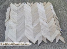 Chevron Wood Table Top, Part 1 - Addicted 2 Decorating® Reclaimed Furniture, Repurposed Furniture, Furniture Makeover, Diy Furniture, Life Hacks Home, Chevron Table, Diy Outdoor Bar, Diy Table Top, Bedroom Organization Diy